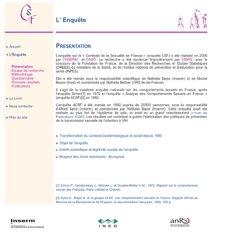 Enquête Contexte de la Sexualité en France (CSF) - Présentation de l'enquête