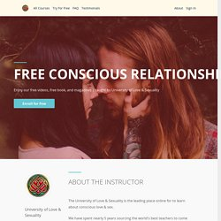 Free Sacred Sexuality & Conscious Relationships Course