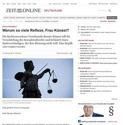 Sexualstrafrecht: Warum so viele Reflexe, Frau Künast?