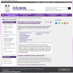 Éducation à la sexualité - Prévention du sida et des infections sexuellement transmissibles (IST)