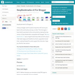 SexyBookmarks v2 For Blogger