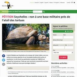 Seychelles : non à une base militaire près de l'atoll des tortues