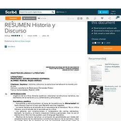 Seymour Chatman RESUMEN Historia y Discurso