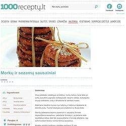 Morkų ir sezamų sausainiai - 1000receptu.lt