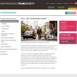 SFFS / KRF Filmmaking Grant