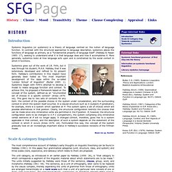 ... SFG Page ...