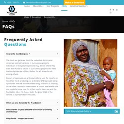 SFN Foundation (NGO) - FAQs Page