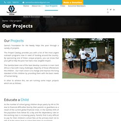 SFN Foundation (NGO) - Our Projects Page