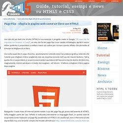 Page Flip - sfoglia le pagine web come un libro con HTML5