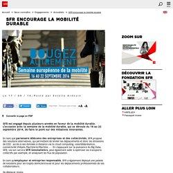SFR encourage la mobilité durable