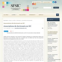 Sfsic - Associations des doctorants