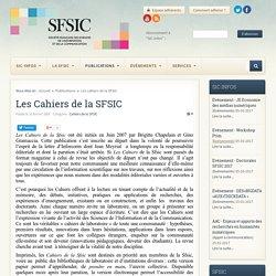 Sfsic - Les cahiers de la SFSIC
