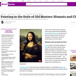 Sfumato and Chiaroscuro - Classic Painting Styles