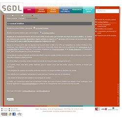 SGDL - Contrat d'édition