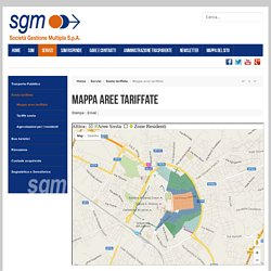 SGM - Mappa aree tariffate