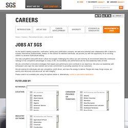 SGS Canada - Jobs At SGS