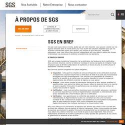 SGS France - SGS en bref
