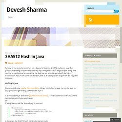 SHA512 Hash in Java