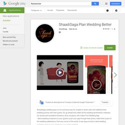 ShaadiSaga Plan Wedding Better – Applications Android sur Google Play
