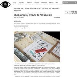 Shabashnik / Tribute to N.Sutyagin