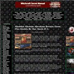 Shabbat Shalom Abraham Return From The Akeida By Rav Kook Zt L