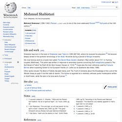Mahmud Shabistari