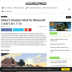 Sildur's Shaders Mod for Minecraft 1.8.8/1.8/1.7.10
