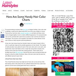 Hair Color Chart - Shades of Blonde, Brunette, Red & Black Colors