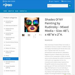 "Shades Of NY Painting by Rudinsky - Mixed Media - Size: 48""L x 48""W x 2""H. - NiFAO"