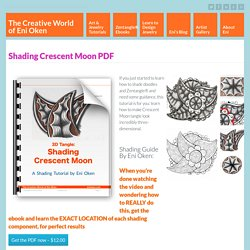Shading tangle Crescent Moon