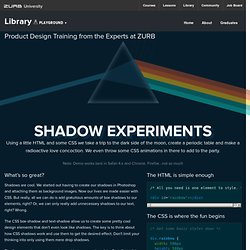CSS Box Shadow & Text Shadow Experiments - ZURB Playground - ZURB.com