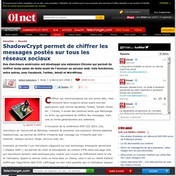 ShadowCrypt permet de chiffrer les messages postés sur tous les réseaux sociaux