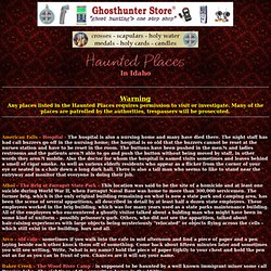 Shadowlands Haunted Places Index - Idaho