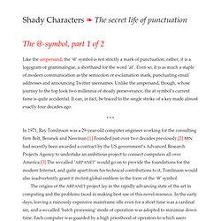 Shady Characters » The @-symbol, part 1 of 2