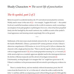 Shady Characters » The @-symbol, part 2 of 2