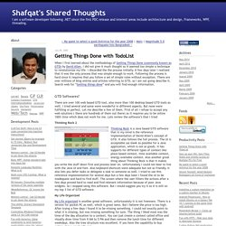 Shafqat's Shared Thoughts: Getting Things Done with TodoList