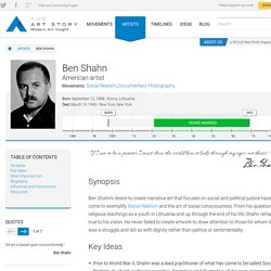 Ben Shahn Biography, Art, and Analysis of Works
