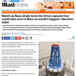NASA shake tests the Orion capsule that could take man to Mars