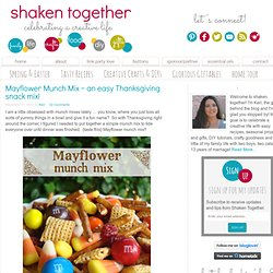 shaken together: {taste this} mayflower munch mix