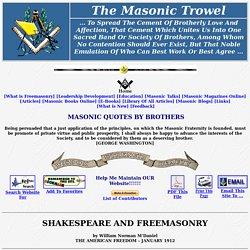 Shakespeare and Freemasonry