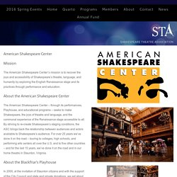 ASC Shakespeare Theatre Association