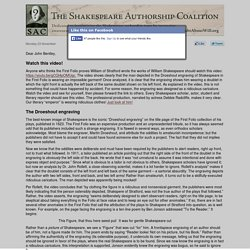 Email from the Shakespeare Authorship Coalition