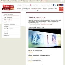 Shakespeare FAQs - Shakespeare Birthplace Trust