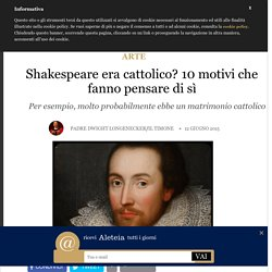 Shakespeare cattolico 1 di 2
