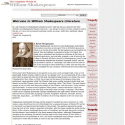 shakespeare biography essay