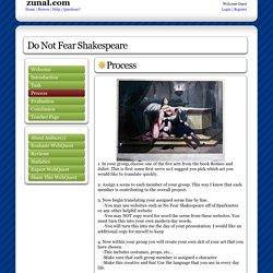 Do Not Fear Shakespeare: created with Zunal WebQuest Maker