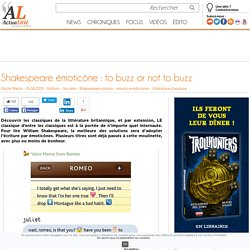 Shakespeare émoticône : to buzz or not to buzz