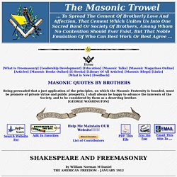 Shakespeare and Freemasonry