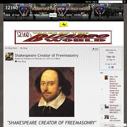 Shakespeare Creator of Freemasonry