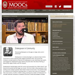 Shakespeare in Community - MOOCs